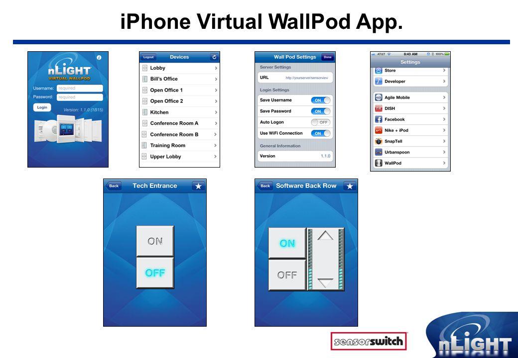 iPhone Virtual WallPod App.