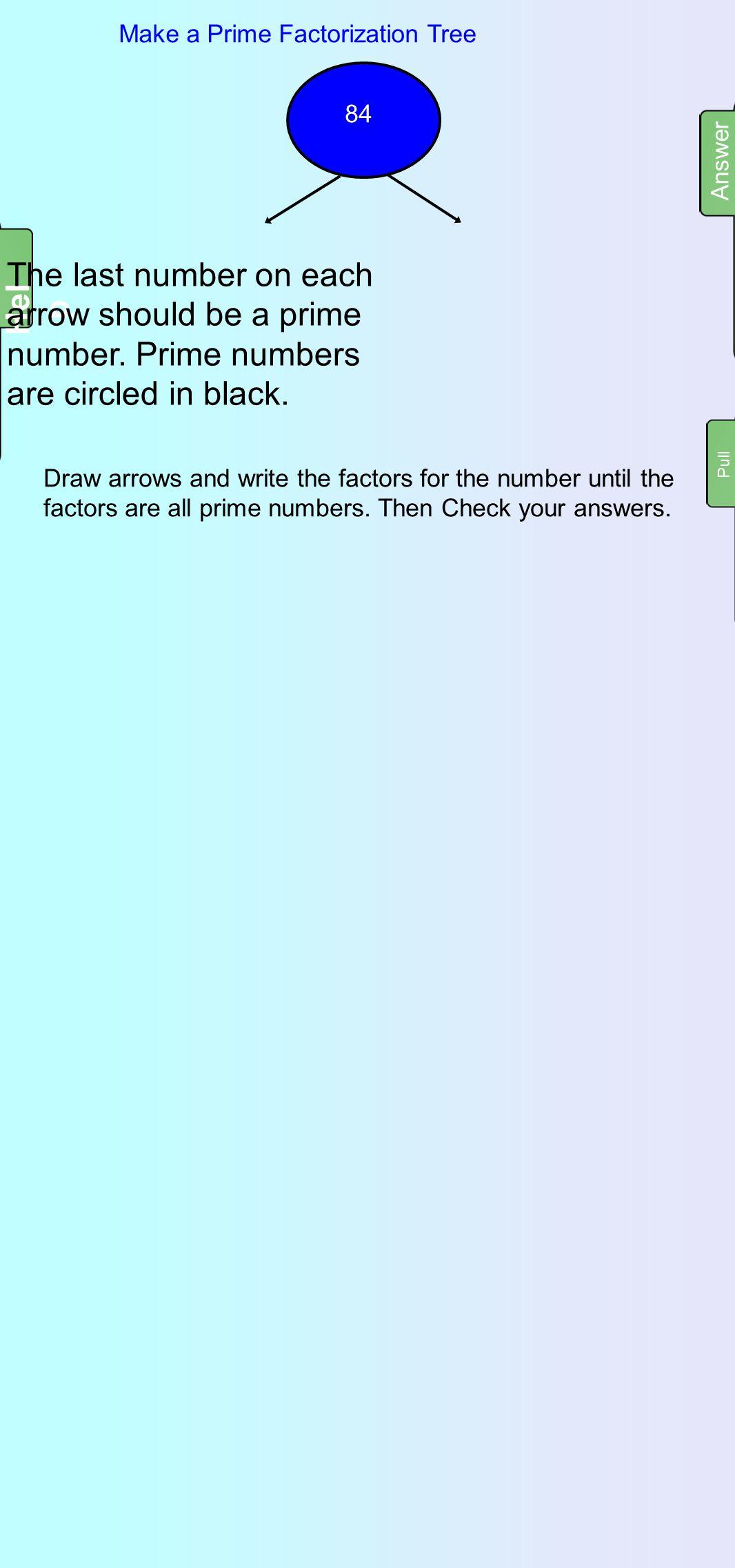 Make a Prime Factorization Tree