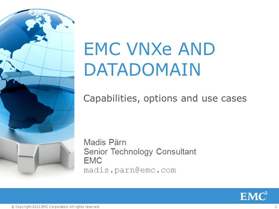 EMC VNXe AND DATADOMAIN