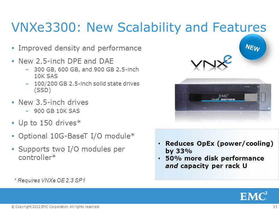 VNXe3300: New Scalability and Features