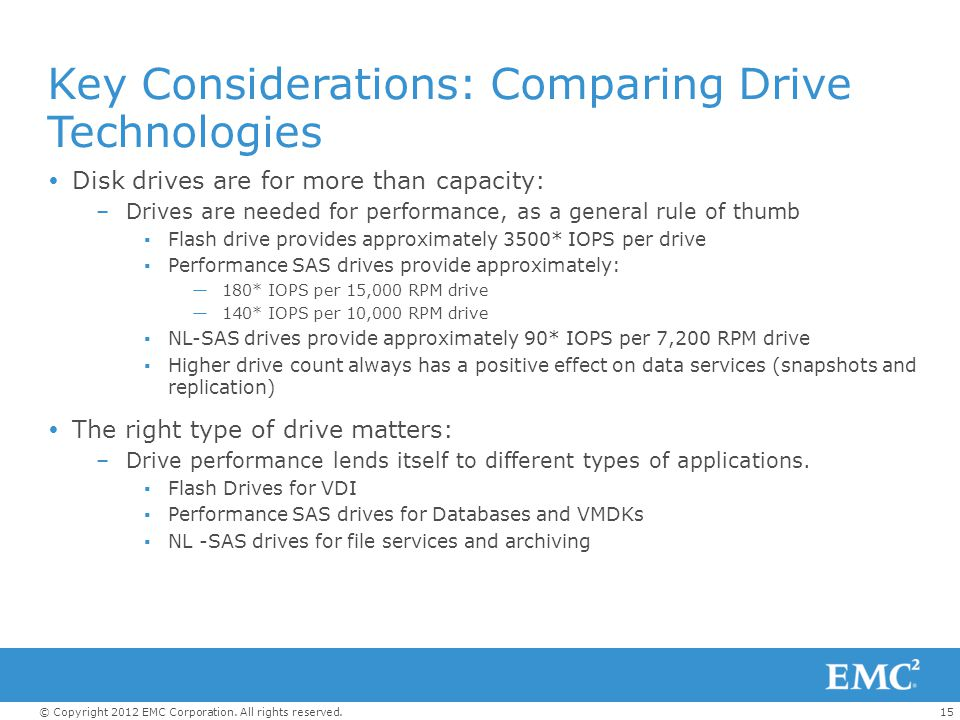Key Considerations: Comparing Drive Technologies