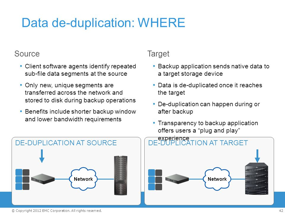 Data de-duplication: WHERE