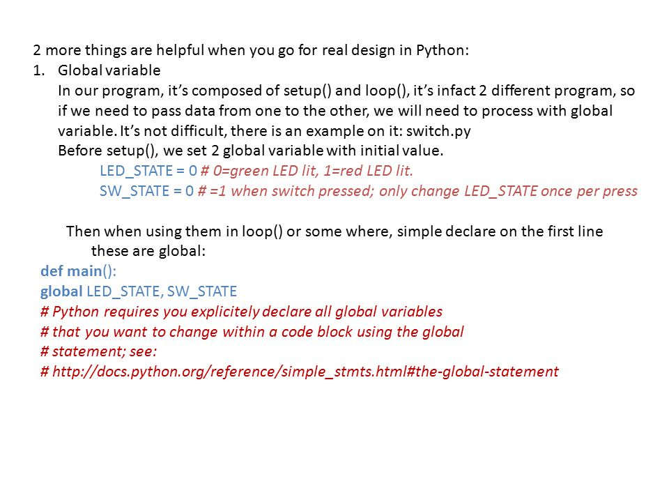 2 more things are helpful when you go for real design in Python:
