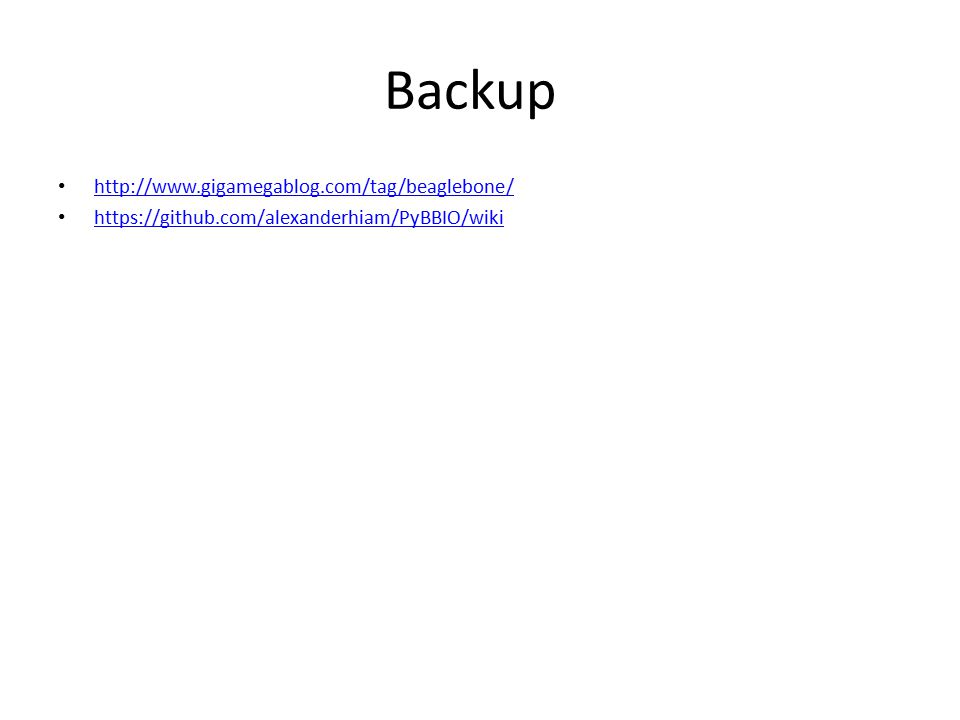 Backup http://www.gigamegablog.com/tag/beaglebone/