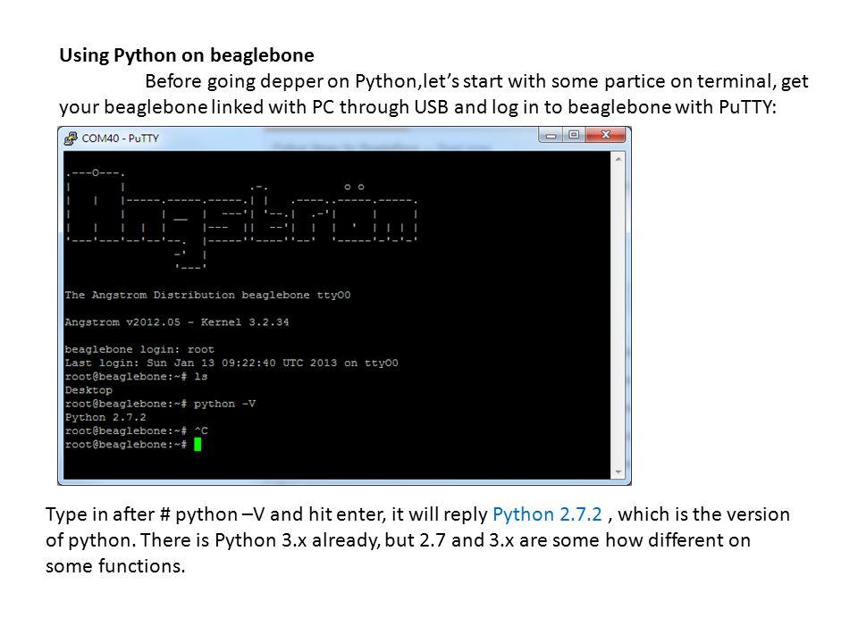 Using Python on beaglebone