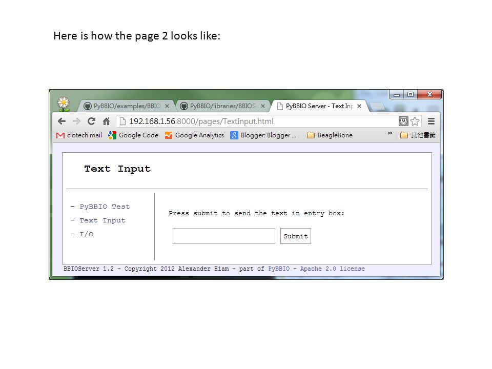 Here is how the page 2 looks like: