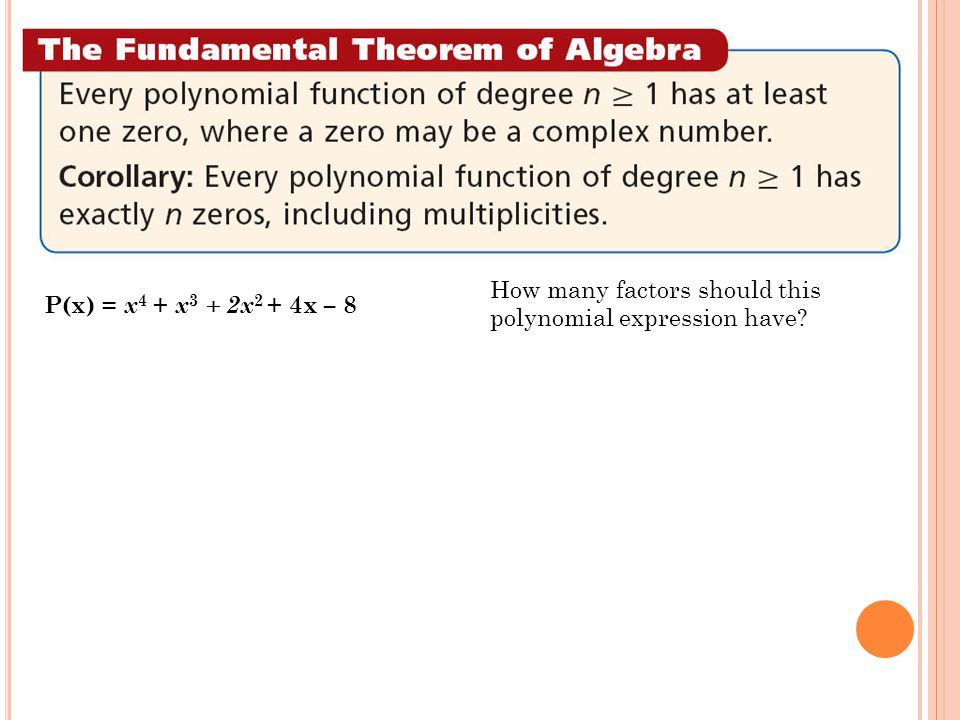 How many factors should this polynomial expression have