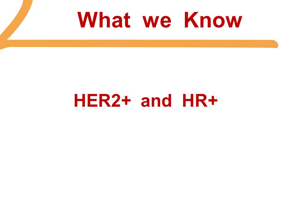 What we Know HER2+ and HR+