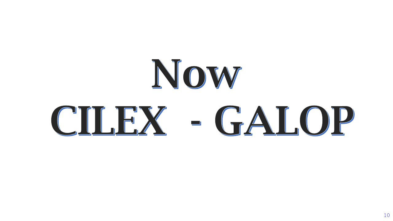 Now CILEX - GALOP