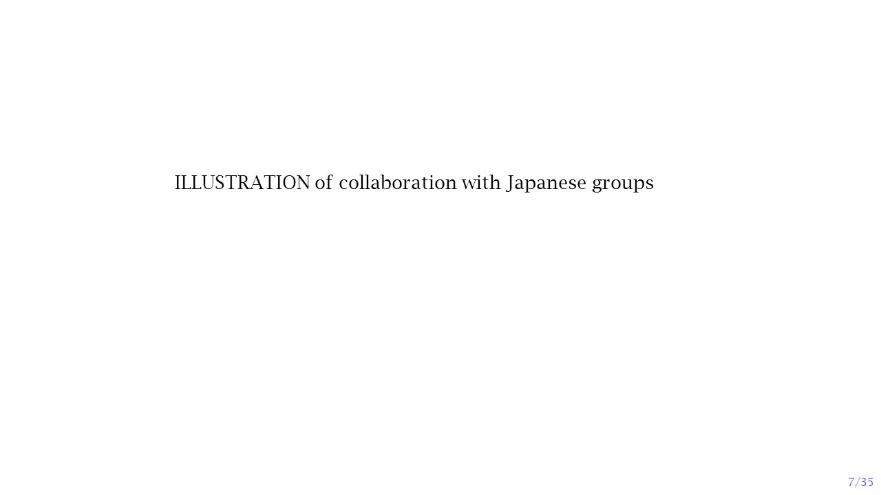 ILLUSTRATION of collaboration with Japanese groups