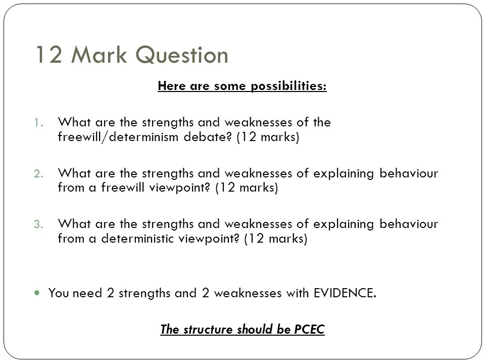 Here are some possibilities: The structure should be PCEC