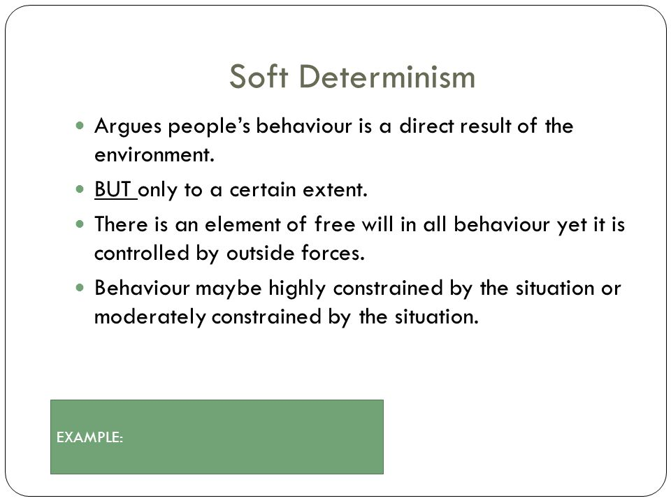 free will vs determinism 6 essay Incompatibilism is the position that free will and determinism are logically incompatible  in his essay on the freedom of the will, schopenhauer stated.