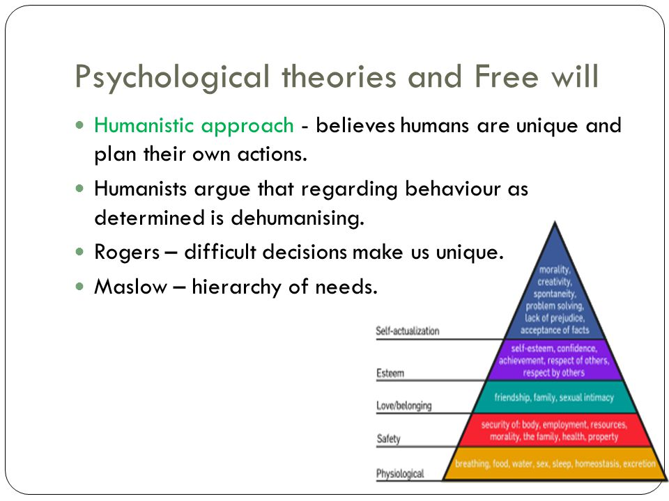 Psychological theories and Free will