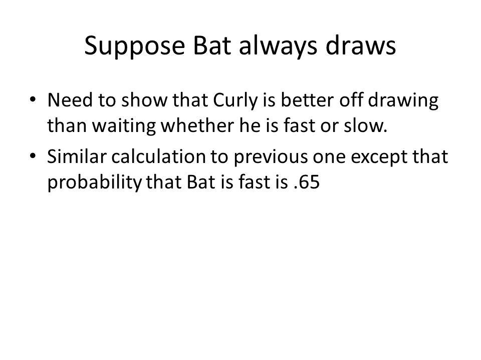 Suppose Bat always draws