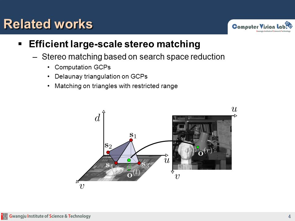 Related works Efficient large-scale stereo matching