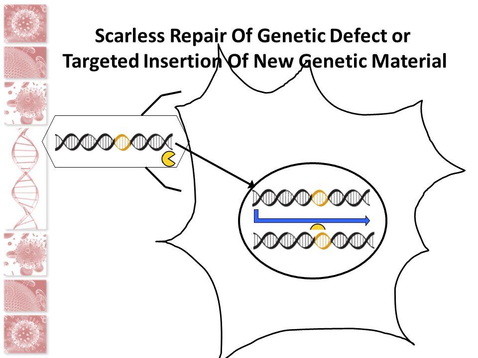 Scarless Repair Of Genetic Defect or