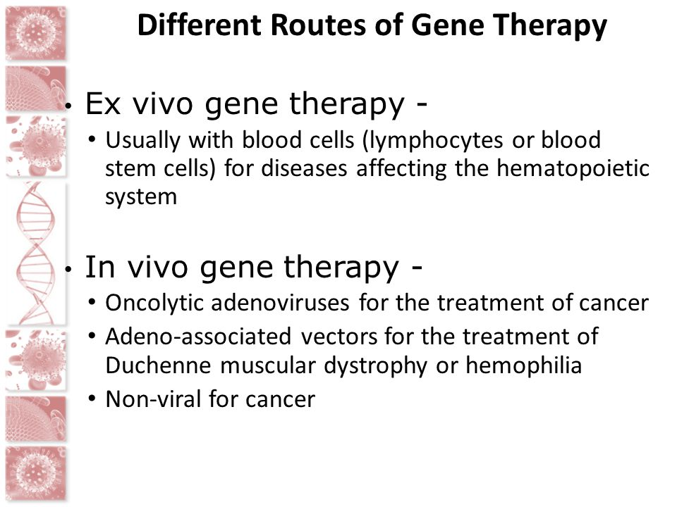 Different Routes of Gene Therapy
