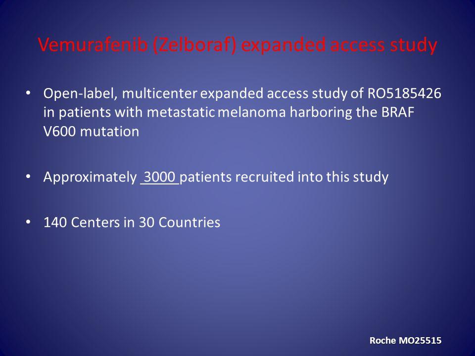 Vemurafenib (Zelboraf) expanded access study
