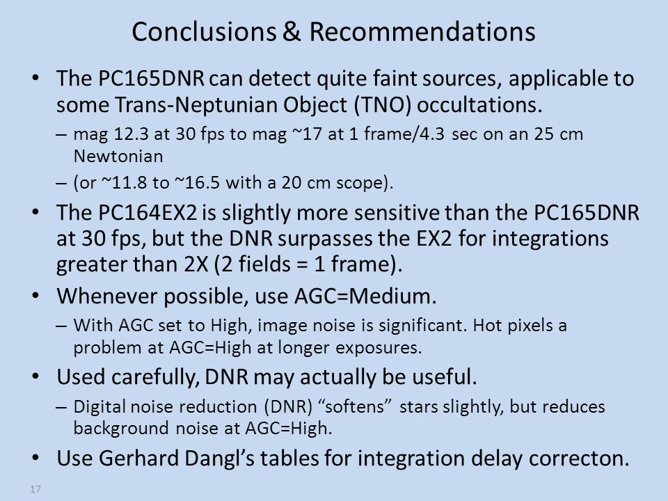 Conclusions & Recommendations