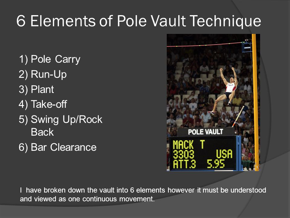 6 Elements of Pole Vault Technique