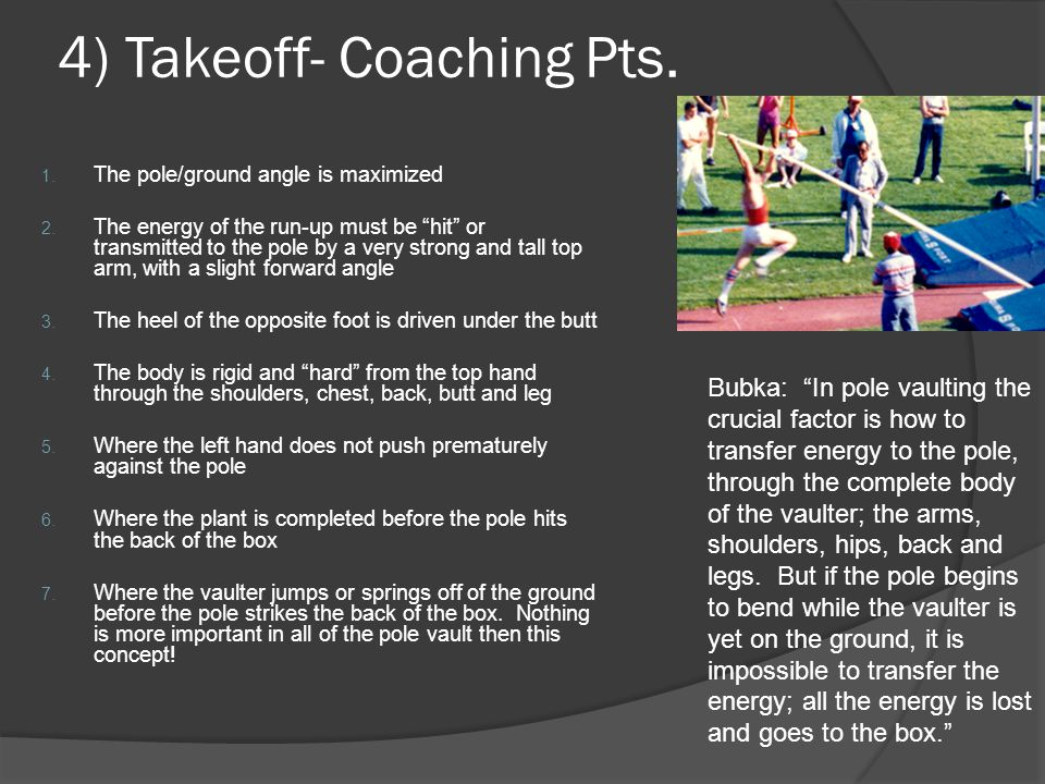 4) Takeoff- Coaching Pts.