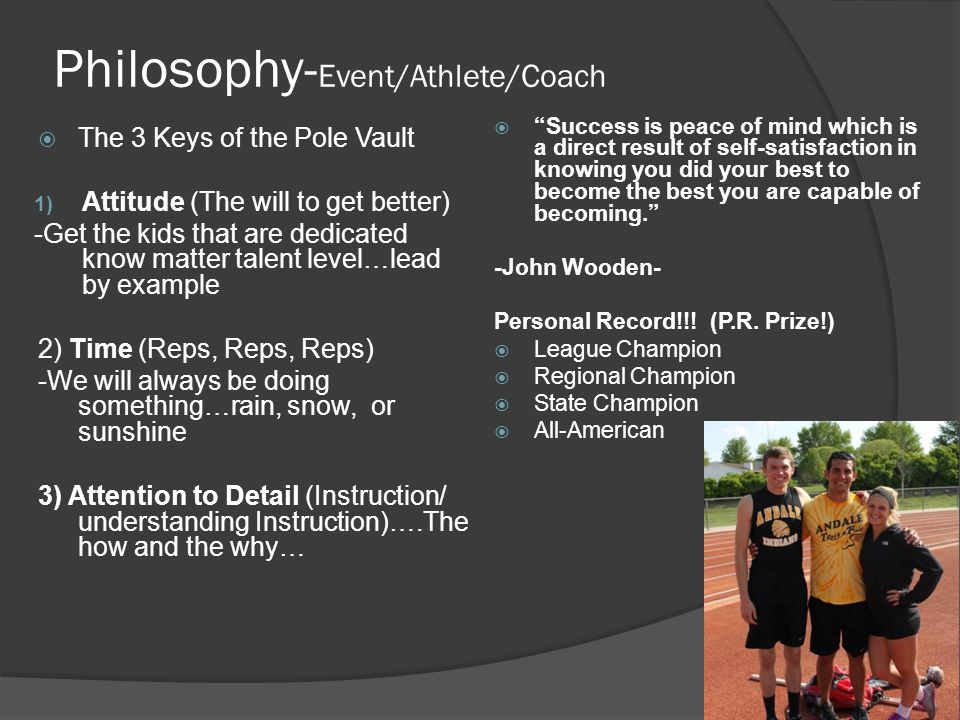 Philosophy-Event/Athlete/Coach