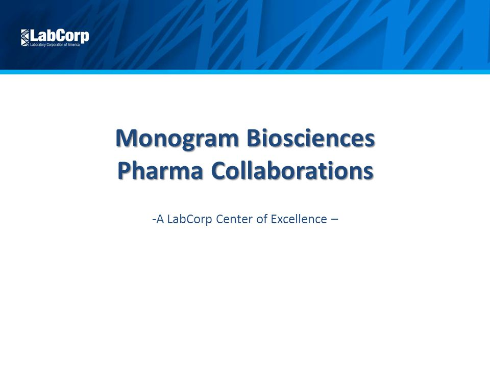 monogram biosciences pharma collaborations