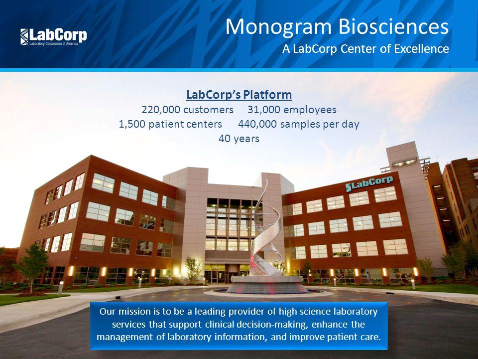 Monogram Biosciences A LabCorp Center of Excellence