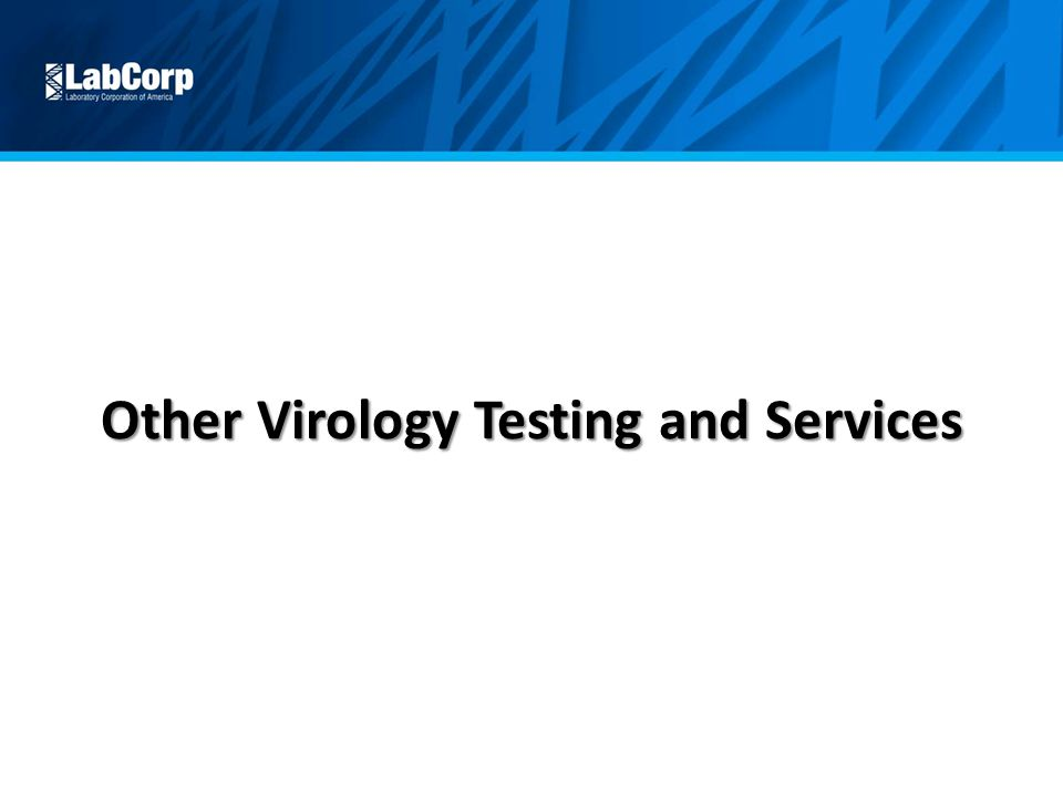 Other Virology Testing and Services
