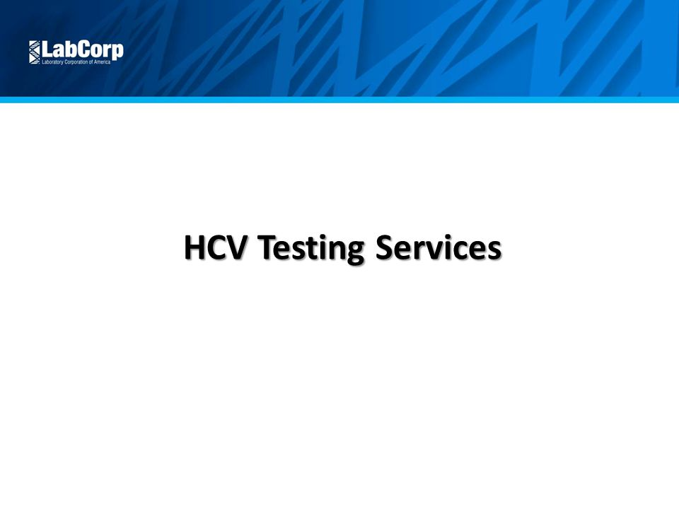 HCV Testing Services