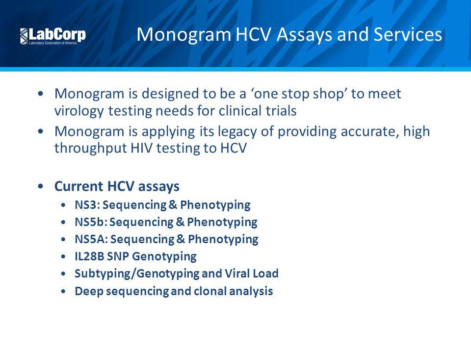 Monogram HCV Assays and Services