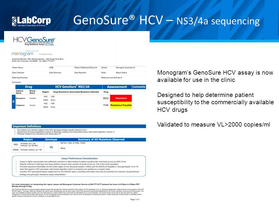 GenoSure® HCV – NS3/4a sequencing