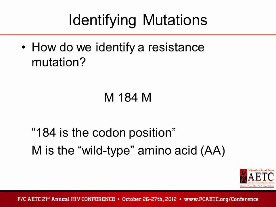 Identifying Mutations