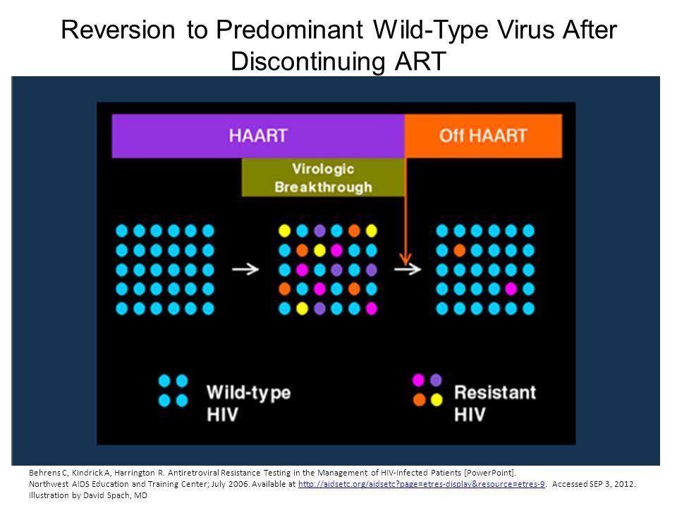 Reversion to Predominant Wild-Type Virus After Discontinuing ART