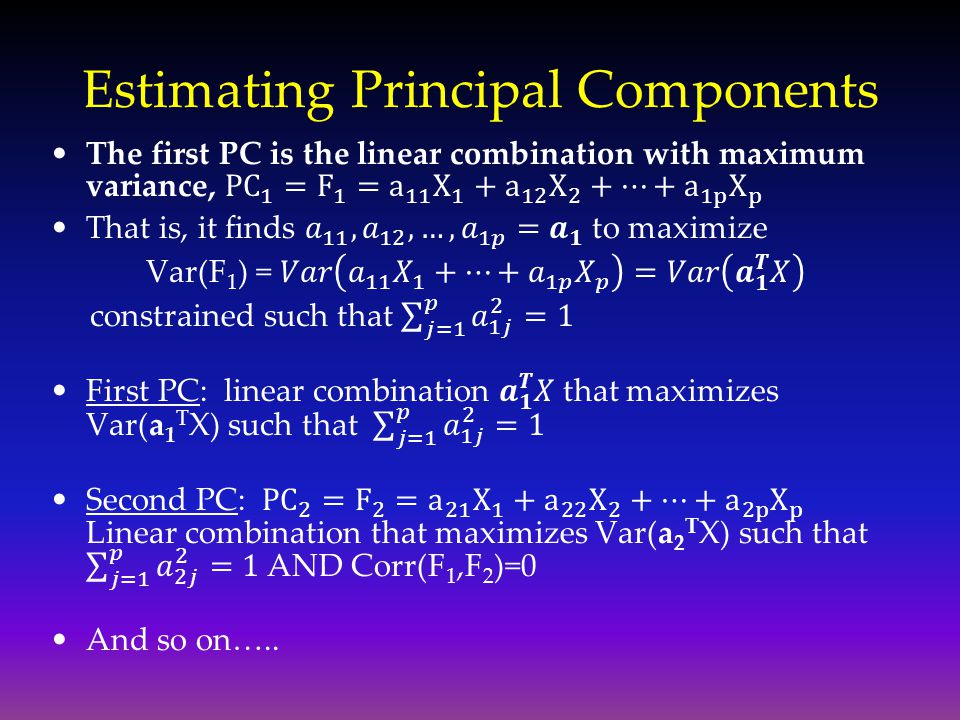 Estimating Principal Components