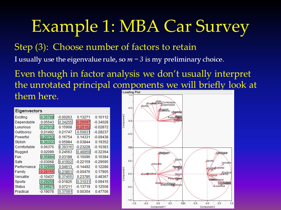 Example 1: MBA Car Survey