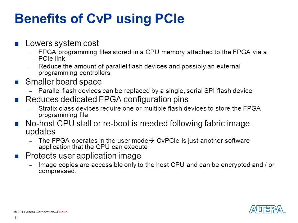 Benefits of CvP using PCIe