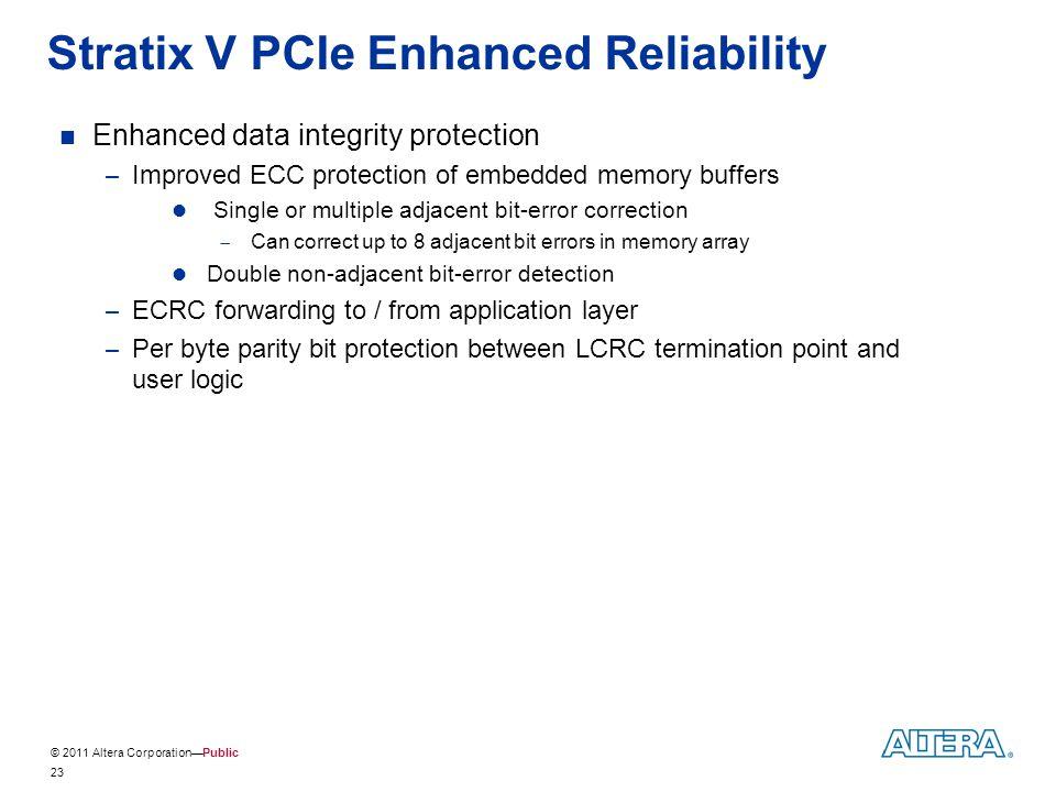 Stratix V PCIe Enhanced Reliability