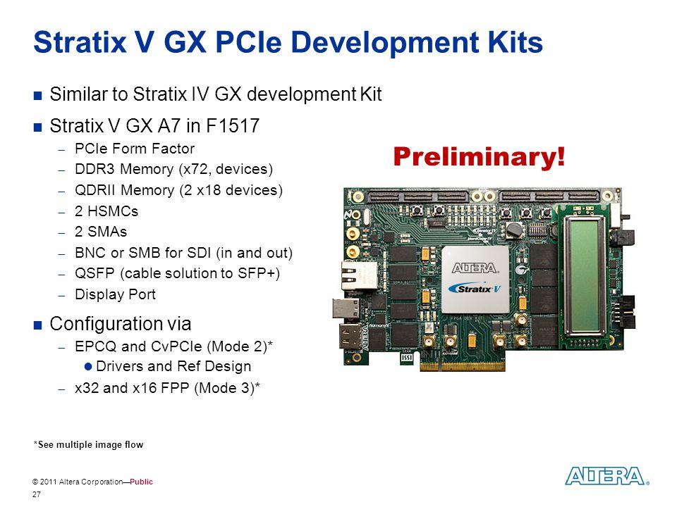 Stratix V GX PCIe Development Kits
