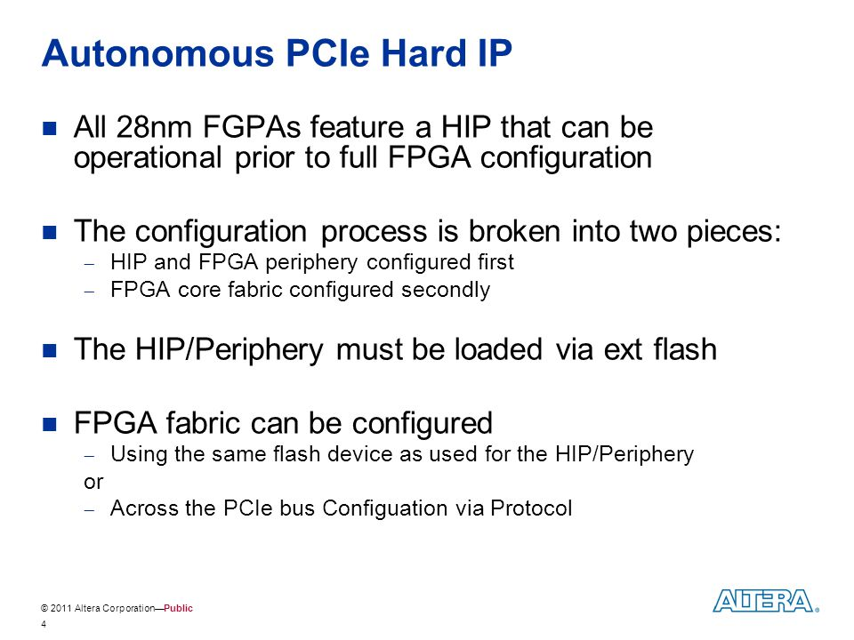 Autonomous PCIe Hard IP