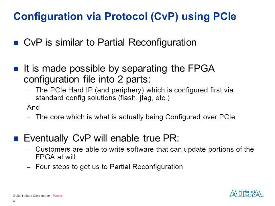 Configuration via Protocol (CvP) using PCIe