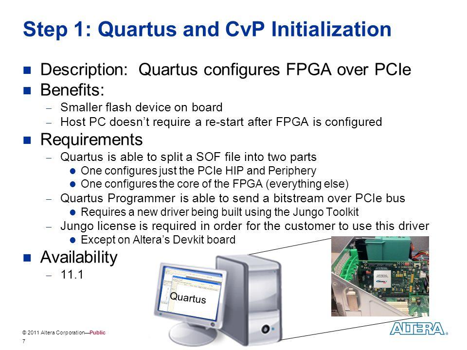 Step 1: Quartus and CvP Initialization