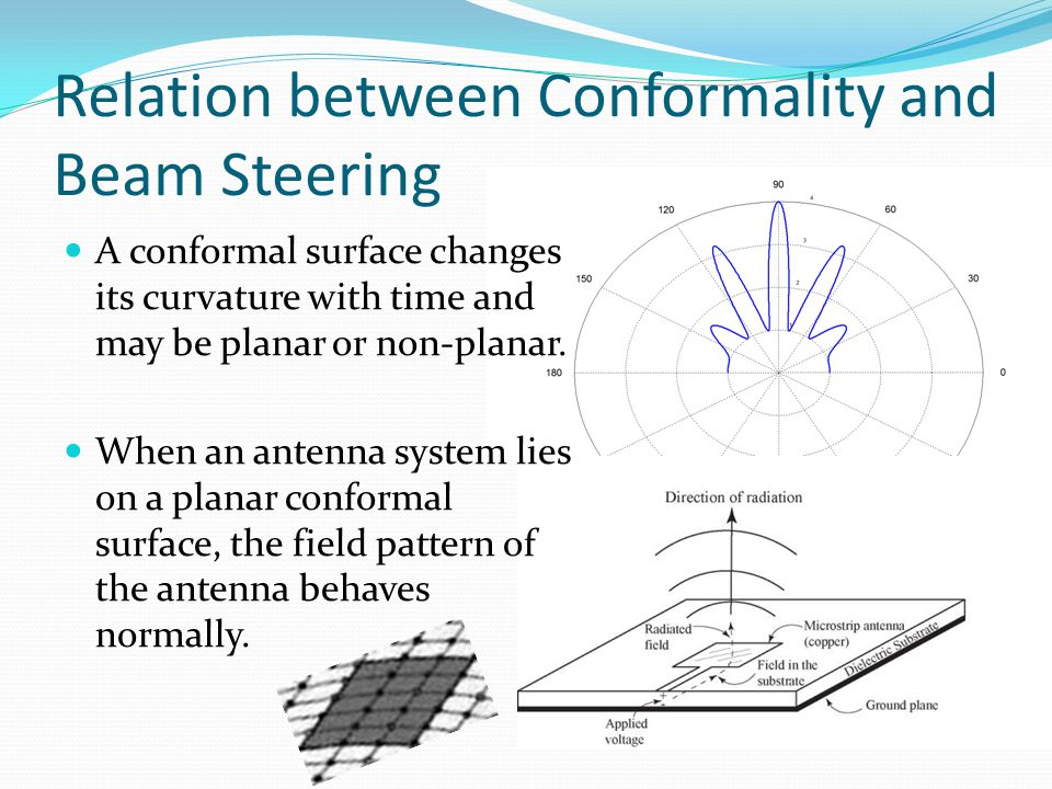 Relation between Conformality and Beam Steering