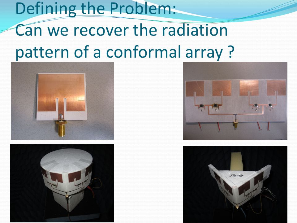 Defining the Problem: Can we recover the radiation pattern of a conformal array