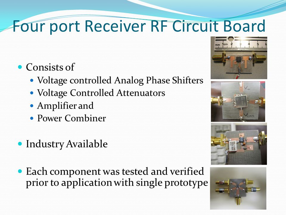 Four port Receiver RF Circuit Board
