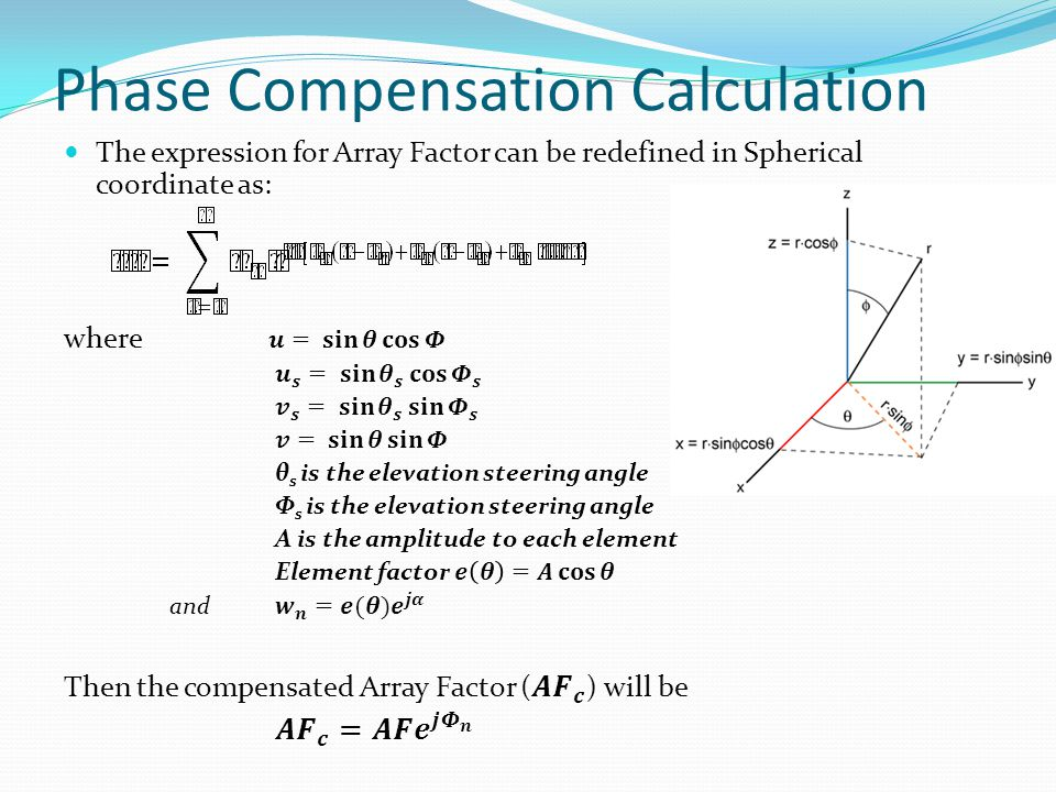 Phase Compensation Calculation