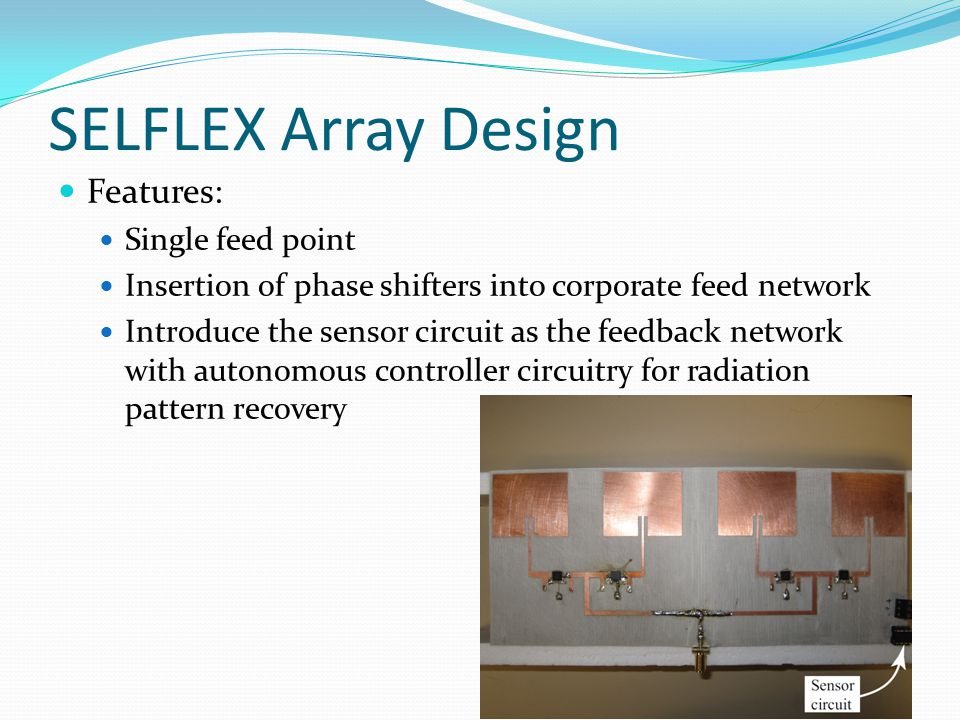 SELFLEX Array Design Features: Single feed point