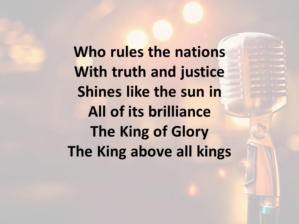 The King above all kings
