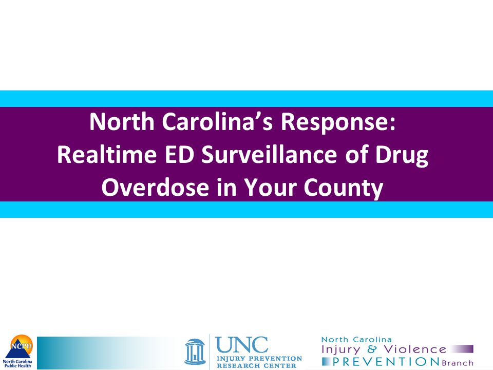 North Carolina's Response: Realtime ED Surveillance of Drug Overdose in Your County