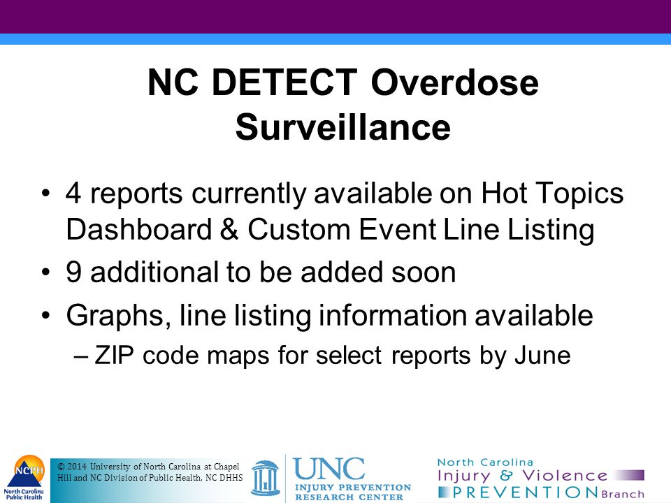NC DETECT Overdose Surveillance